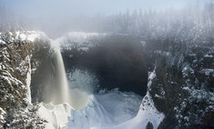 Как увидеть ледяной водопад в Канаде