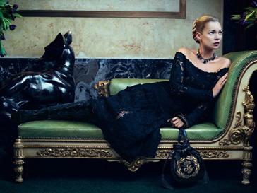 Кейт Мосс (Kate Moss) в рекламной кампании Salvatore Ferragam, осень-зима 2012/13