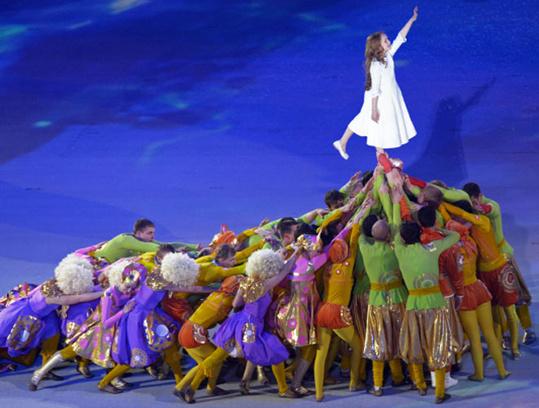Любовь, открытие Олимпийских игр в Сочи, Сочи 2014