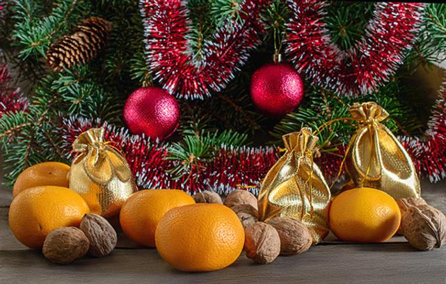 Картинка мандарины к новому году