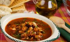 Арабский фасолевый суп с мясом
