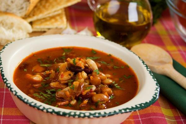 фасолевый суп с мясом рецепт фото рецепт
