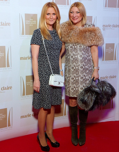 Супруга Андрея малахова, издатель журнала Marie Claire Наталья Шкулева с подругой