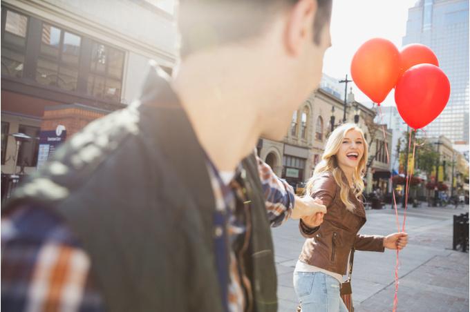 Пара с шариками