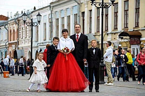 Екатерина Орешкович с семьей