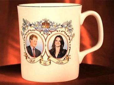 Принц Гарри (Prince Henry) и Кейт Миддлтон (Kate Middleton) на сувенирной кружке