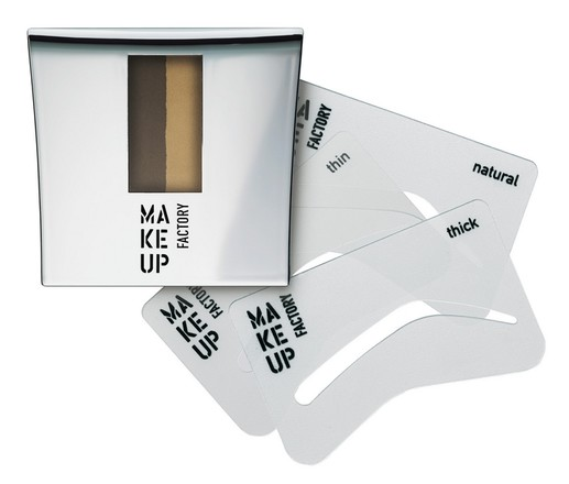 Make Up Factory, Eye Brow Powder with Stencils, 1250 рублей