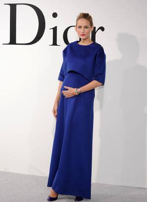 Лили Собески на шоу Dior