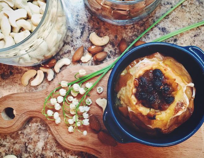 запечь яблоки в духовке с творогом рецепт