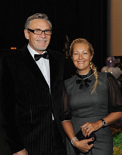 Президент и председатель жюри Кинофестиваля Александр Михайлов с женой Оксаной