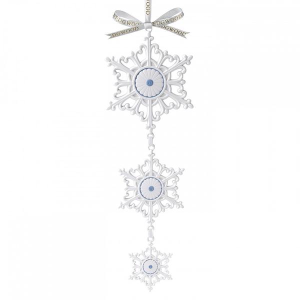 Новогоднее украшение Hanging Snowflake, Wedgwood, магазины «Гледиз», «Криспар»