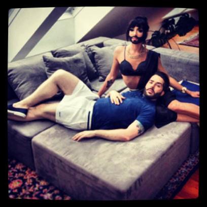 Кончита Вурст с мужем: фото