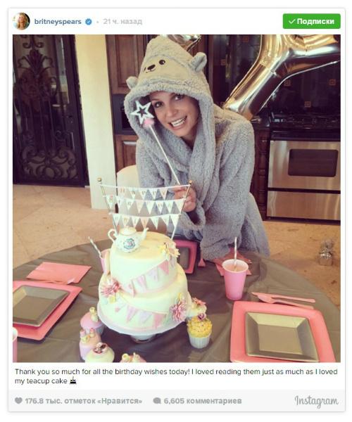 Бритни Спирс получила от Майли Сайрус подарок на день рождения