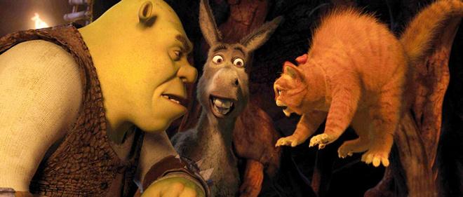 Три лучших друга – Шрэк, Осел и Кот в сапогах.