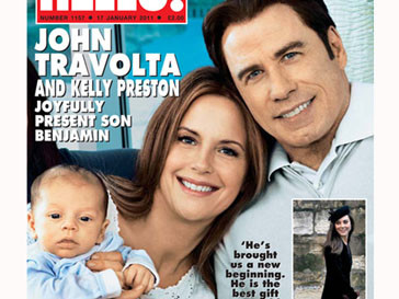 Келли Престон (Kelly Preston), Джон Траволта (John Travolta) и их сын Бенджамин