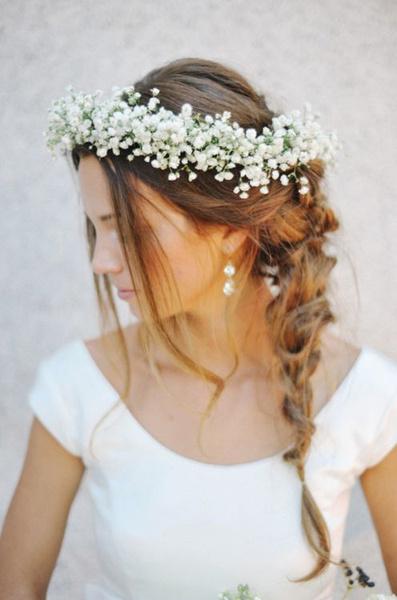 Как украсить цветами свадебную прическу?   галерея [1] фото [6]