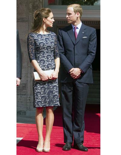 Кейт Миддлтон сопровождает принца Уильяма во всех поездках