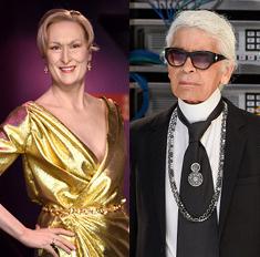 Стрип и Лагерфельд разругались из-за платья для «Оскара»