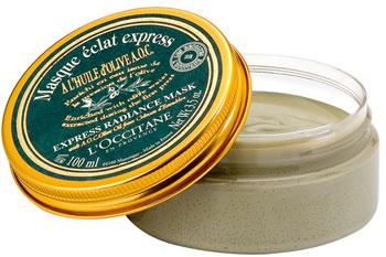 Экспресс-маска для сияния кожи, L'Occitane. Содержит белую и зеленую глину, очищает кожу и делает цвет лица ярче.
