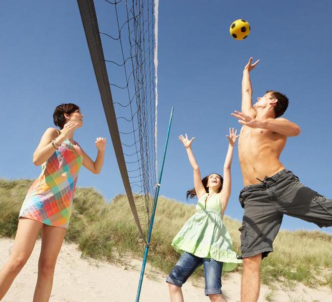пляж, отдых, волейбол, регби