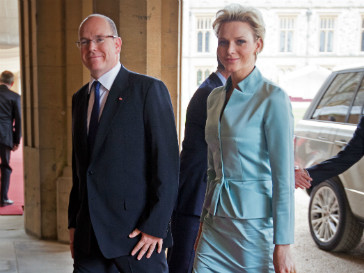 Князь Монако Альберт II и княгиня Шарлин
