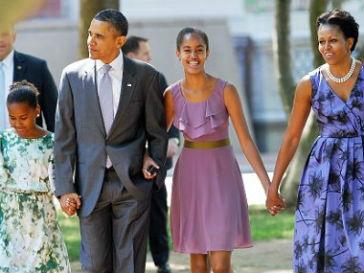 Мишель Обама (Michelle Obama) внимательно следит за воспитанием детей