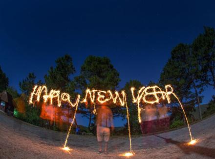 Надпись: Новый год