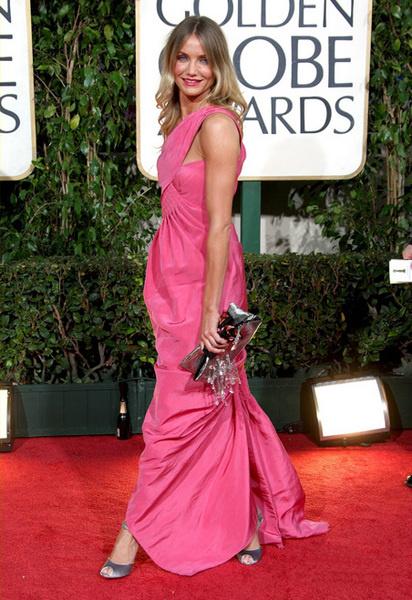 Камерон Диас в розовом платье Chanel Haute Couture