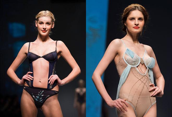 Модели в нижнем белье почти голые, фото