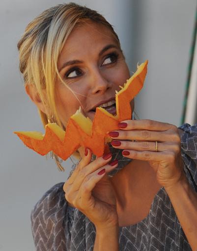 Хайди Клум любит блюда из тыквы.