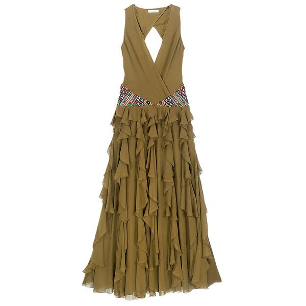 Шелковое платье с вышивкой из бисера, MatthewWilliamson.