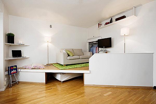 Подиум в маленькой квартире фото