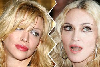 Кортни Лав и Мадонна.