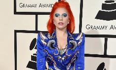 «Грэмми-2016»: Гага с огненными волосами и синими тенями