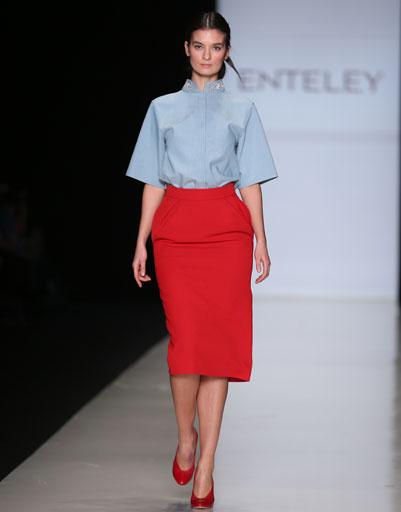 Показ коллекции ENTELEY осень-зима 2013/14 на Mercedes-Benz Fashion Week Russia