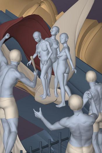 Образы серии «Момент вне времени» - это соединение современной культуры и архитипов прошлого.