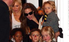Анджелина Джоли пришла в гости к Гвен Стефани
