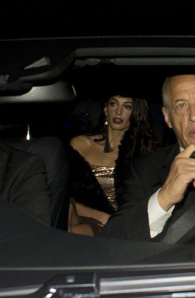 Амаль Аламуддин по дороге на свою вторую свадьбу