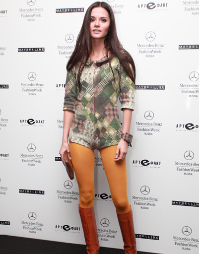 Катя Ли на Mercedes-Benz Fashion Week Russia