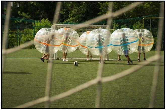 Магнитогорск, благотворительность, дети, футбол, бампербол