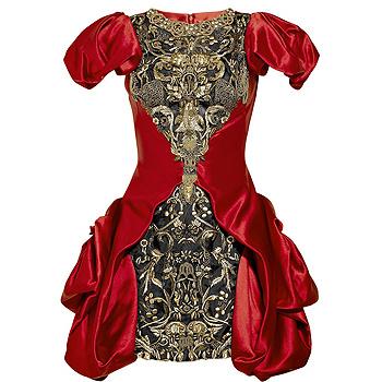 Платье необычного кроя