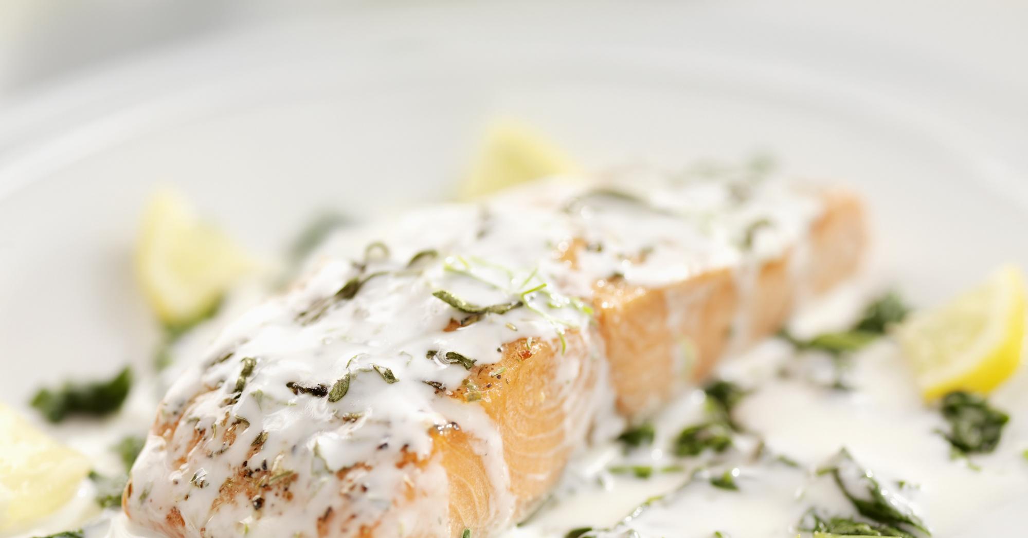Рецепт лосося в сливочном соусе пошаговые фото