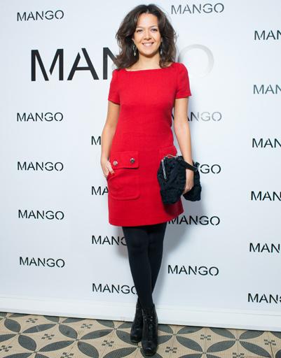 Ксения Чилингарова на показе Mango весна-лето 2012
