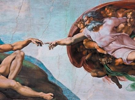Фрагмент росписи Сиксинской капеллы кисти Микеланджело