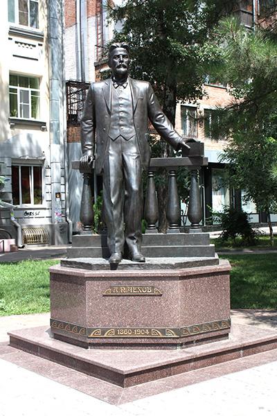 фото Ростова, памятник Чехову, ул. пушкинская