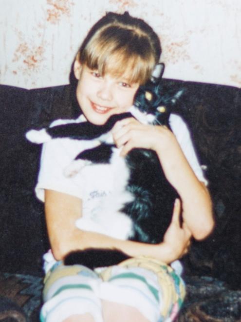 Катерина Шпица с кошкой