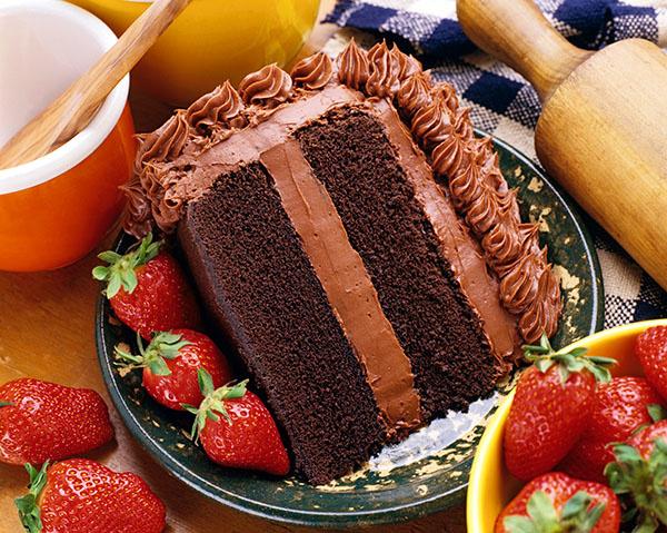 торт, клубника, десерт