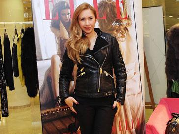 Анастасия Гребенкина на шопинг-дне Elle в бутике DVF