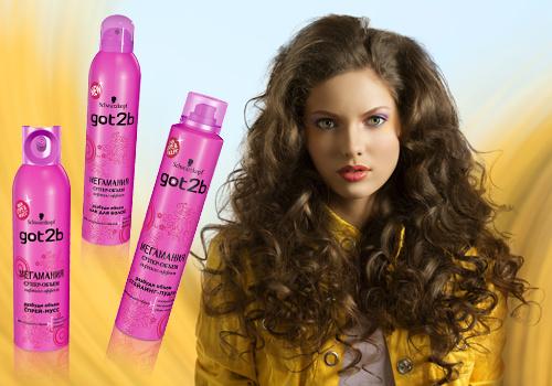 Новая линия для укладки волос от Got2b - «Мегамания»