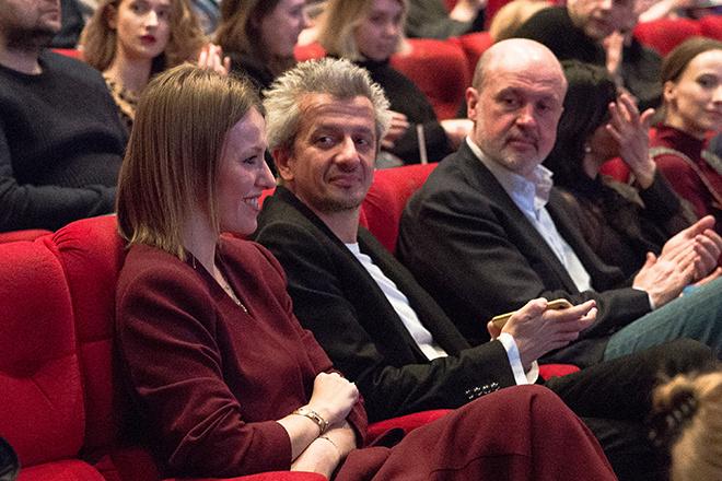 Собчак и Богомолов пришли вместе на модную премию